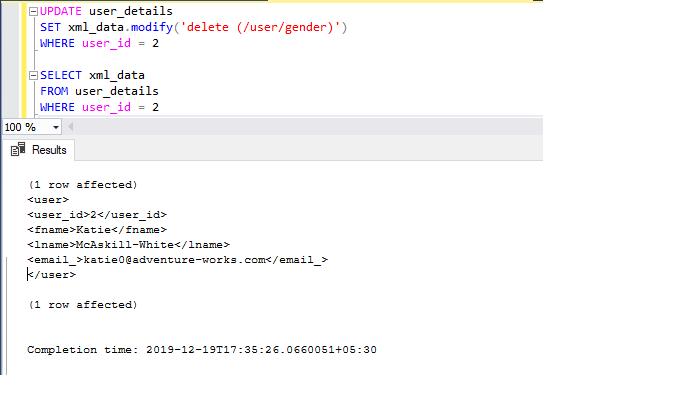 Berbagai cara untuk memperbarui XML menggunakan XQuery di SQL Server